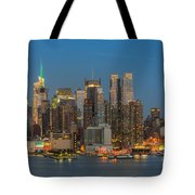 Manhattan Twilight IIi Tote Bag by Clarence Holmes