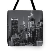 Manhattan Twilight Ix Tote Bag by Clarence Holmes