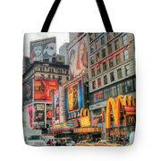 Manhattan's Theater District Tote Bag