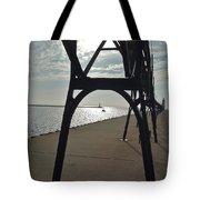 Manistee Breakwaters Tote Bag