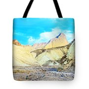 Manly Beacon From Golden Canyon In Death Valley National Park-california Tote Bag
