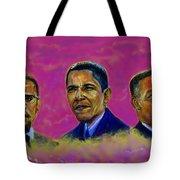 M.a.n...malcolm- Obama- Martin Tote Bag
