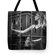 Mannequin In Storefront Shop Window In Black And White Tote Bag
