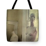 Mannequin In The Window Tote Bag