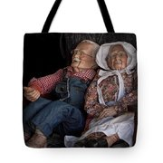 Mannequin Old Couple In Shop Window Display Color Photo Tote Bag