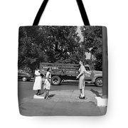 Mannequin Talks Traffic Safety Tote Bag