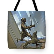 Manship's Indian Running With Dog Tote Bag