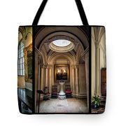 Mansion Hallway Triptych Tote Bag by Adrian Evans