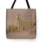 Manti Utah Lds Temple Tote Bag