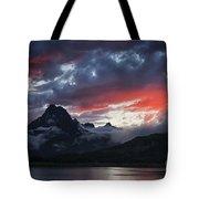 Many Glacier Sunset Tote Bag