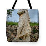 Many Sculptures Lost Their Heads In Ephesus-turkey Tote Bag