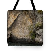 Maori Rock Carving Tote Bag