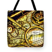 Map And Compass Tote Bag