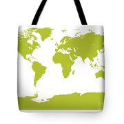 Map In Chartreuse Green Tote Bag