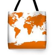 Map In Orange Tote Bag