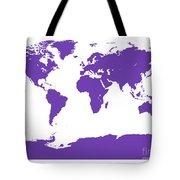 Map In Purple Tote Bag