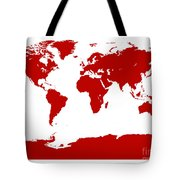 Map In Red Tote Bag