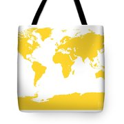 Map In Yellow Tote Bag