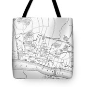Map: London, 13th Century Tote Bag