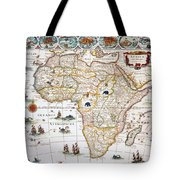Map Of Africa, 1630 Tote Bag