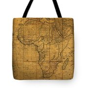 Map Of Africa Circa 1829 On Worn Canvas Tote Bag