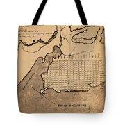 Map Of Alexandria 1798 Tote Bag