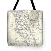 Map Of Ancient Egypt Tote Bag