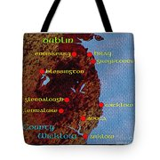 Wicklow Places Map Tote Bag