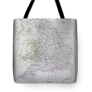 Map Of England Tote Bag