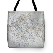 Map Of Europe In The Middle Ages Tote Bag