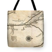 Map Of French Discoveries In America 1673 Tote Bag
