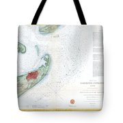 Map Of Galveston City And Harbor Texas Tote Bag