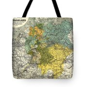 Map Of Germany 1861 Tote Bag