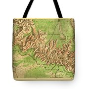Map Of Grand Canyon National Park Tote Bag