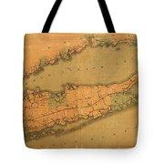 Map Of Long Island 1888 Tote Bag