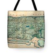 Map Of Manhattan Tote Bag