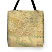 Map Of Manila 1899 Tote Bag