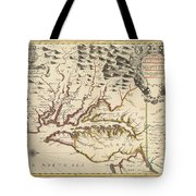 Map Of Maryland 1676 Tote Bag