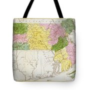 Map Of Massachusetts, From Historical Collections Of Massachusetts, By John Warren Barber, 1839 Tote Bag