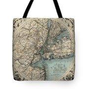 Map Of New York 1891 Tote Bag