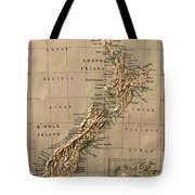 Map Of New Zealand 1880 Tote Bag