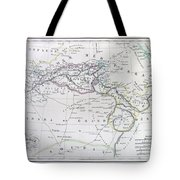 Map Of North Africa Or Barbary Tote Bag