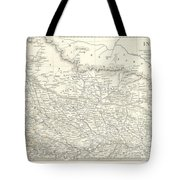 Map Of North India Nepal And Allahabad Tote Bag