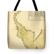 Map Of Philadelphia And The Delaware River 1780s Tote Bag
