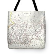 Map Of Russia In Asia And Siberia Tote Bag