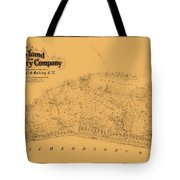 Map Of Sausalito 1868 Tote Bag