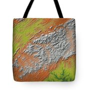 Map Of Southern Appalachia Tote Bag
