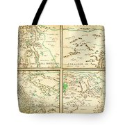 Map Of Spanish Holdings In North America 1769 Tote Bag