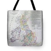 Map Of The British Isles  Tote Bag