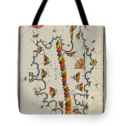 Map Of The Island Corsica Tote Bag